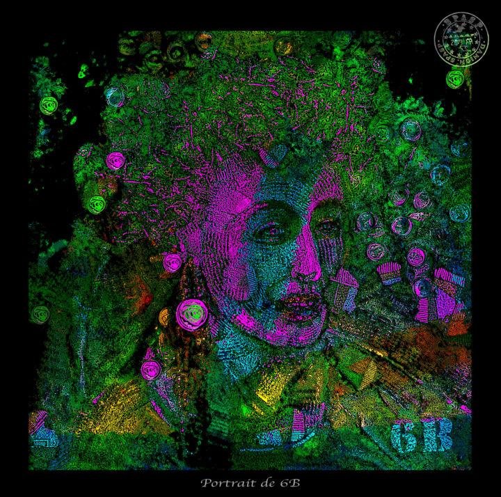 Portrait 6B numérique.