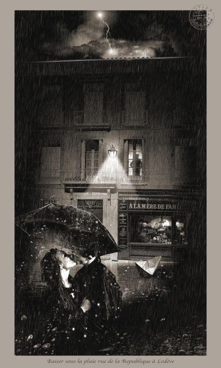 Le baiser sous la pluie
