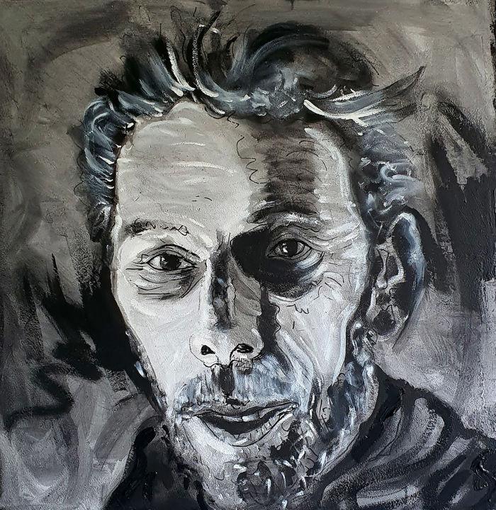 Ebauche portrait de Gilles Monteil.