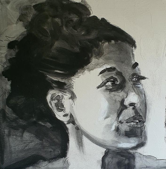 Portrait ébauche Tatiana